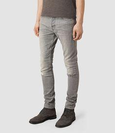 Mens Chika Cigarette Jean (Light Grey) - product_image_alt_text_2