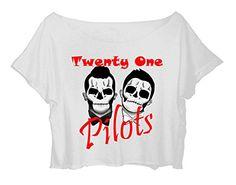 Women's Crop Top Twenty One Pilots Shirt 21 Pilots Duo Musical T-shirt (white) http://www.amazon.com/dp/B0165B5Z9I/ref=cm_sw_r_pi_dp_8Zlgwb03E9W50
