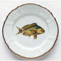 Anna Weatherley Antique Fish 7.5 In Salad Plate No. 6