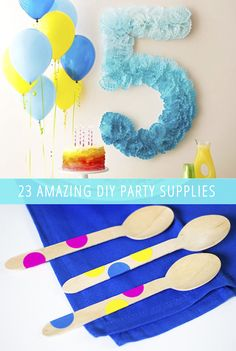 Have you ever wanted your party to look like one thing but all the party supplies in the stores were another thing? Here are 23 awesome DIY party supplies!