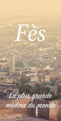 Article de blog : Fès, la plus grande médina du monde Travel Around The World, Around The Worlds, Fez Morocco, Double Exposition, Africa Destinations, Photos Voyages, Exotic Places, Blog Voyage, City Break