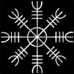 Helm of Awe (ægishjálmr) - magickal symbol worn by Vikings for invincibility. Modern day use by Ásatrú followers for protection.