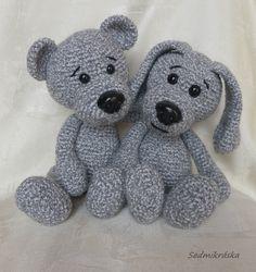 Crochet Animal Patterns, Crochet Animals, Crochet Toys, Knit Crochet, Amigurumi Toys, Stuffed Toys Patterns, Dogs And Puppies, Hello Kitty, Teddy Bear