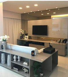 trendy home icon design couch Living Room Tv, Home And Living, Muebles Living, Home Icon, Home Tv, Trendy Home, Deco Design, Decoration Bedroom, Bars For Home