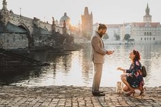 This Beautiful Engagement in Prague Took 2 Years to Plan—And HE Said Yes from InStyle.com