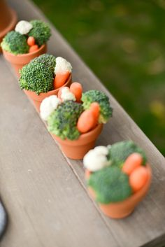 Crudites in Pots for Mothers Day Tea and Brunch