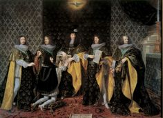 Louis XIV conferring l'Ordre du Saint-Esprit on his brother Philippe de France, Monsieur, duc d'Anjou, later duc d'Orleans, 8 June 1654 at Reims, 1665 painting by Philippe de Champaigne (1602-1674)