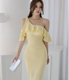Elegante Korean Girl Fashion, Asian Fashion, Womens Fashion, Cute Dresses, Beautiful Dresses, Short Dresses, Casual Dress Outfits, Chic Outfits, Beautiful Asian Women