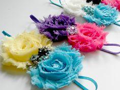 Fluffy flower headbands