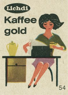 Matchbox label Germany. Woman and skirt, shoes.