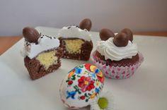 Fotorecept: Cupcakes s tvarohovo-kokosovou plnkou