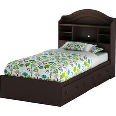 South Shore Summer Breeze Twin Mates Bed, Multiple Finishes - Walmart.com