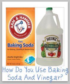baking soda/ bicarbonato de sodio vinegar /vinagre