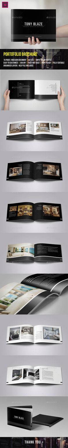 Brochure Portfolio 16 Pages — InDesign INDD #interior #customizable • Available here → https://graphicriver.net/item/brochure-portfolio-16-pages/9637761?ref=pxcr