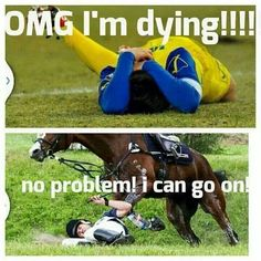 Equestrians over Footballers! We go hardcore mate