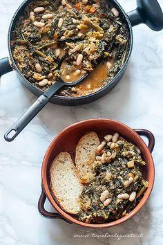 Fett, Paella, Kale, Food Inspiration, Italian Recipes, Vegan Vegetarian, Acai Bowl, Toscana, Food And Drink