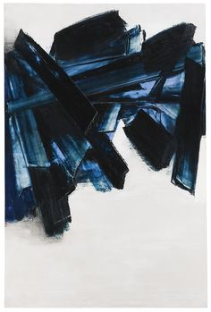 Pierre Soulages - Peinture, 21 novembre 1959 Oil on canvas (195 x 130cm)