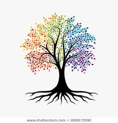 Abstract Tree, vibrant tree logo, owl tree logo design illustration isolated on white background Tree Of Life Images, Tree Of Life Artwork, Tree Art, Tree Of Life Logo, Brust Tattoo, Owl Logo, Owl Tree, Vector Trees, Tree Logos