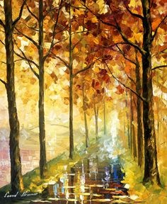 HIDDEN PATH - Palette Knife Oil Painting On Canvas By Leonid Afremov http://afremov.com/HIDDEN-PATH-palette-knife-Oil-Painting-On-Canvas-By-Leonid-Afremov-20-X24-50cm-x-60cm.html?bid=1&partner=20921&utm_medium=/vpin&utm_campaign=v-ADD-YOUR&utm_source=s-vpin