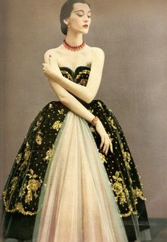 Christian Dior couture, 1950.