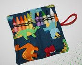 Dinosaurs Party Favors, Crayon Roll Dinosaurs Crayon Rollup, holds up to 10 Crayons Crayon Roll Party Favors