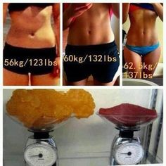 Muscle weighs more than fat. Something to remember so that I don't get frustrated when getting on the scale. Don't look at pounds, look at muscle mass & fat %