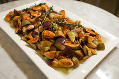 Marinated Eggplant & Caramelized Fig with White Balsamic Vinegar