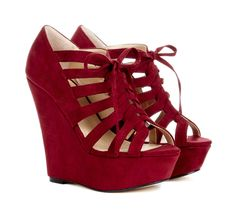 Red platform wedges