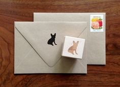 French Bulldog Silhouette Stamp by GracePenelopePrints on Etsy
