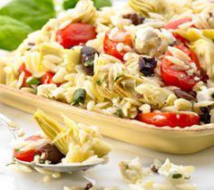 Thrifty Foods - Recipe - Orzo Pasta Salad with Artichokes, Cherry Tomatoes and Basil