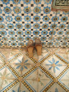 shoes for a hammam experience-A Passage to Tangier: The zellij of Morocco