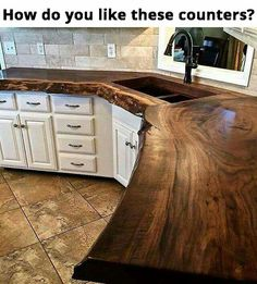 Redesigning Your Kitchen Area: Choosing Your New Kitchen Counter Tops – Outdoor Kitchen Designs Wooden Countertops, Outdoor Kitchen Countertops, Outdoor Kitchen Bars, Outdoor Kitchen Design, Rustic Kitchen, New Kitchen, Kitchen Decor, Kitchen Worktop, Kitchen Island