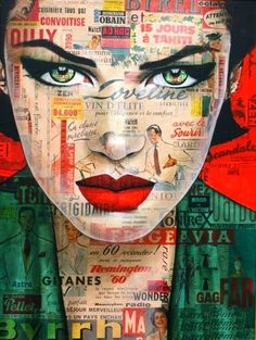 Ideas Pop Art Face Illustration Artists For 2019 L'art Du Portrait, Collage Portrait, Abstract Portrait, Abstract Art, Portraits, Portrait Paintings, Portrait Ideas, Arte Pop, Art And Illustration