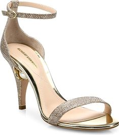 ba0141cb2ede Nicholas Kirkwood Women s Shoes in Champagne Color. Sultry metallic  ankle-strap sandal on pearl