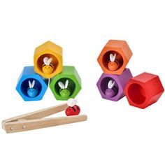 Abejas en la colmena-juguetes creativos de madera