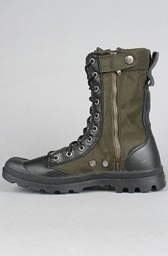 The Pampa Tactical Boot in Olive Drab & Black