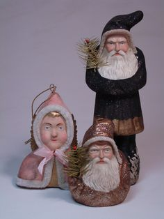 Paper mache Belsnickle-Angel candy container by Paul Turner studio