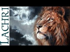 Speed painting - How to paint a Lion - Time Lapse tutorial oil and acrylic by Lachri - YouTube