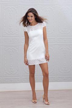 Robe blanche mariage mairie