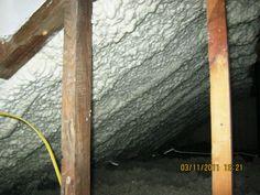 Spray Foam Insulation Fiberglass Insulation, Home Insulation, Spray Foam Insulation, Energy Saving Tips, Save Energy, Attic, Cold Weather, Ladder Decor, Construction