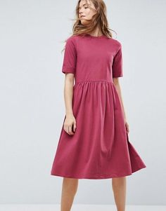 online shopping for ASOS Midi Ultimate Cotton Smock Dress from top store. See new offer for ASOS Midi Ultimate Cotton Smock Dress Dope Outfits, Chic Outfits, Dress Outfits, Smocked Dresses, Cotton Dresses, Maxi Dresses, Party Dresses, Maternity Shoot Dresses, Modest Fashion