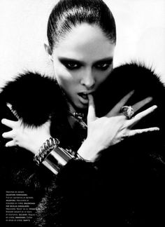 Coca Rocha...love fur. love fierce.