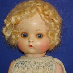 "10.5"" Just Me Painted Bisque AM 310 Doll Original Tagged Dress Germany c1930s"
