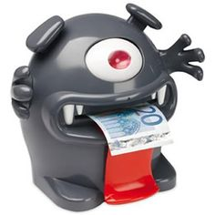MONEY MONSTER - GREY : The Money Monster is an electronic piggy bank Feed me money to make me talk taking away my money makes me grumpy Perfect for teaching kids to save their dollars The Ultimate Gift, Money Box, Monster, Ways To Save Money, Piggy Bank, Teaching Kids, Frugal, Minions, Cool Stuff