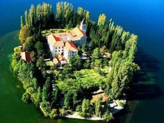 The Visovac Monastery in the Krka National Park, Croatia