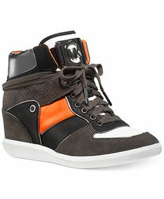 073e0af9d0e45 MICHAEL Michael Kors Nikko High-Top Wedge Sneakers   Reviews - Sneakers -  Shoes - Macy s