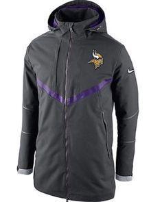 ece31fd2d49e Nike Minnesota Vikings Mens 550 Down Filled Parka Jacket M Charcoal  638946-060  Nike