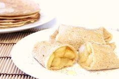 THERMOMIX: Crepes de aveia, maçã e mel