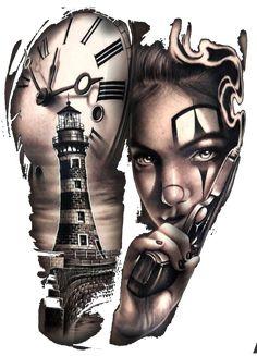 clown girl chicano pistol Art Print by Tattoo shirt - X-Small Chicano Tattoos Gangsters, Chicano Tattoos Sleeve, Chicano Style Tattoo, Best Sleeve Tattoos, Gangsta Tattoos, Dope Tattoos, Badass Tattoos, Girl Tattoos, Cat Tattoo Designs