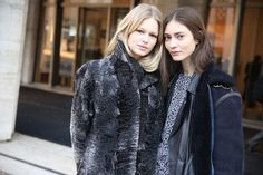 Anna ewers and marine deleeuw at mfw fw 14